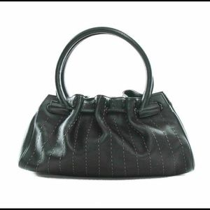 Salvatore Ferragamo leather stitch shoulder bag